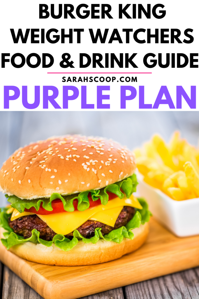 Burger King weight watchers purple points