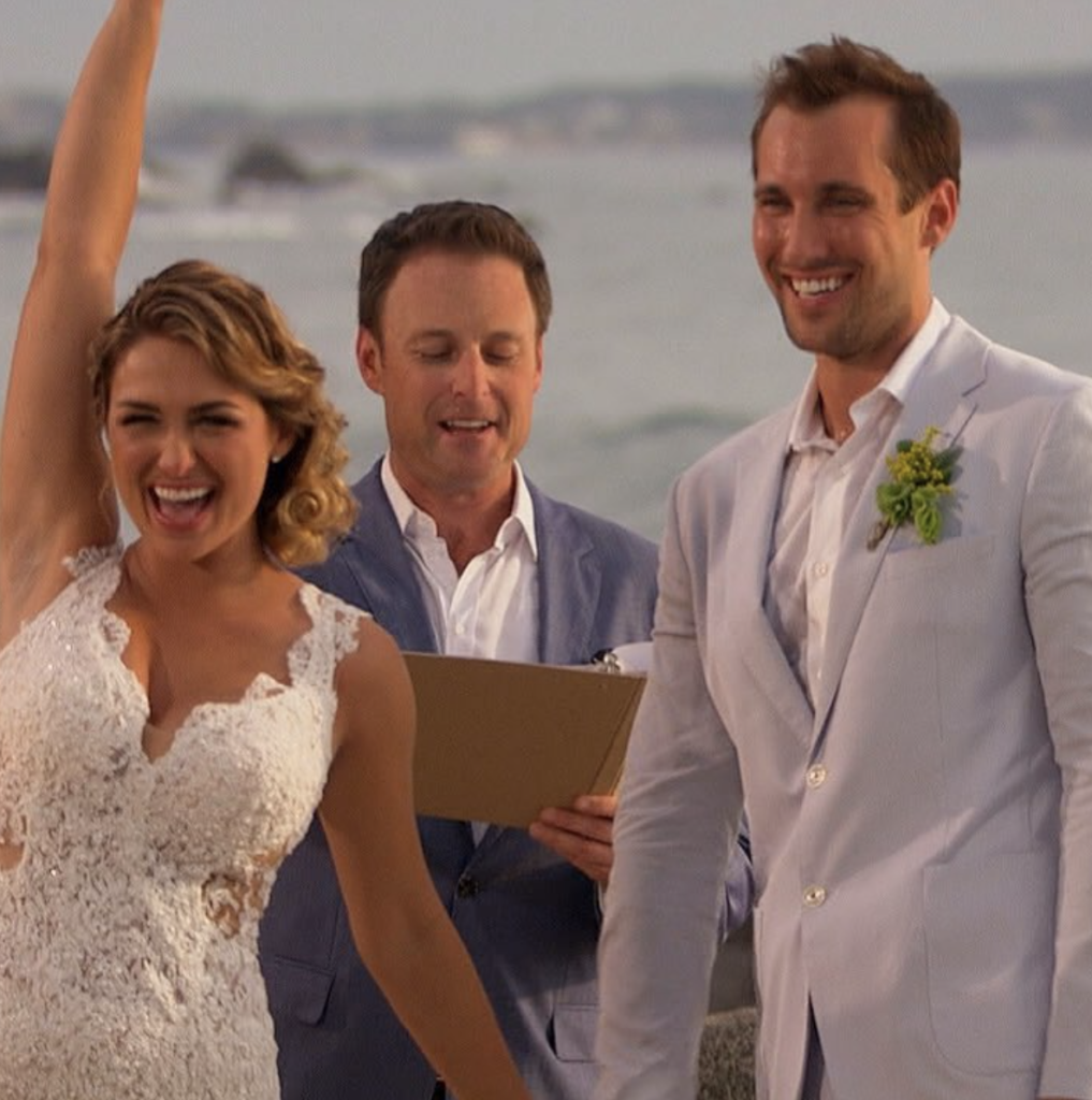 Bachelor in Paradise Marcus and Lacy's wedding with Chris Harrison