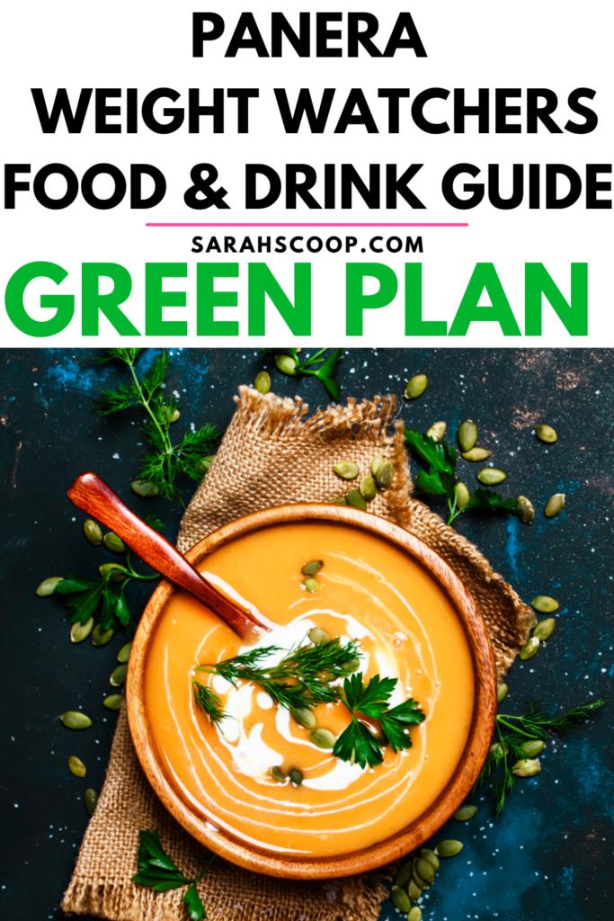 Panera Weight Watchers Green Plan