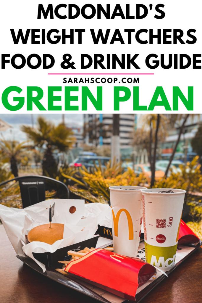 McDonald's Weight Watchers Green Plan