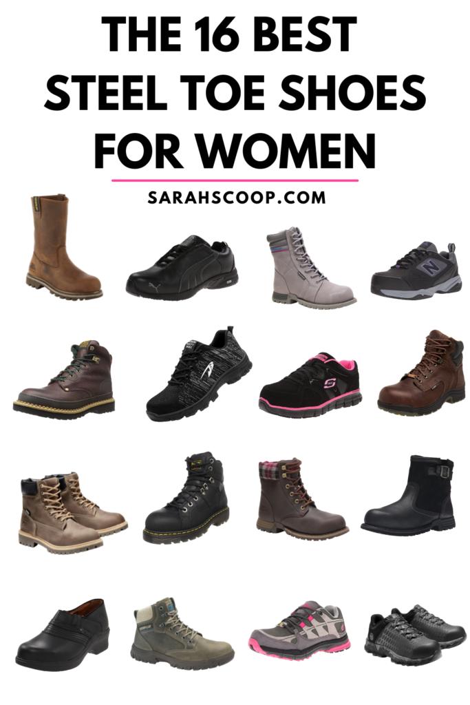 Pinterest image for best steel toe work shoes for women