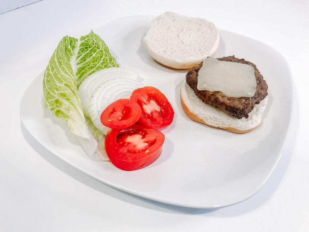 air fryer frozen burger