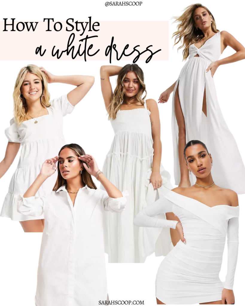style a white dress for summer
