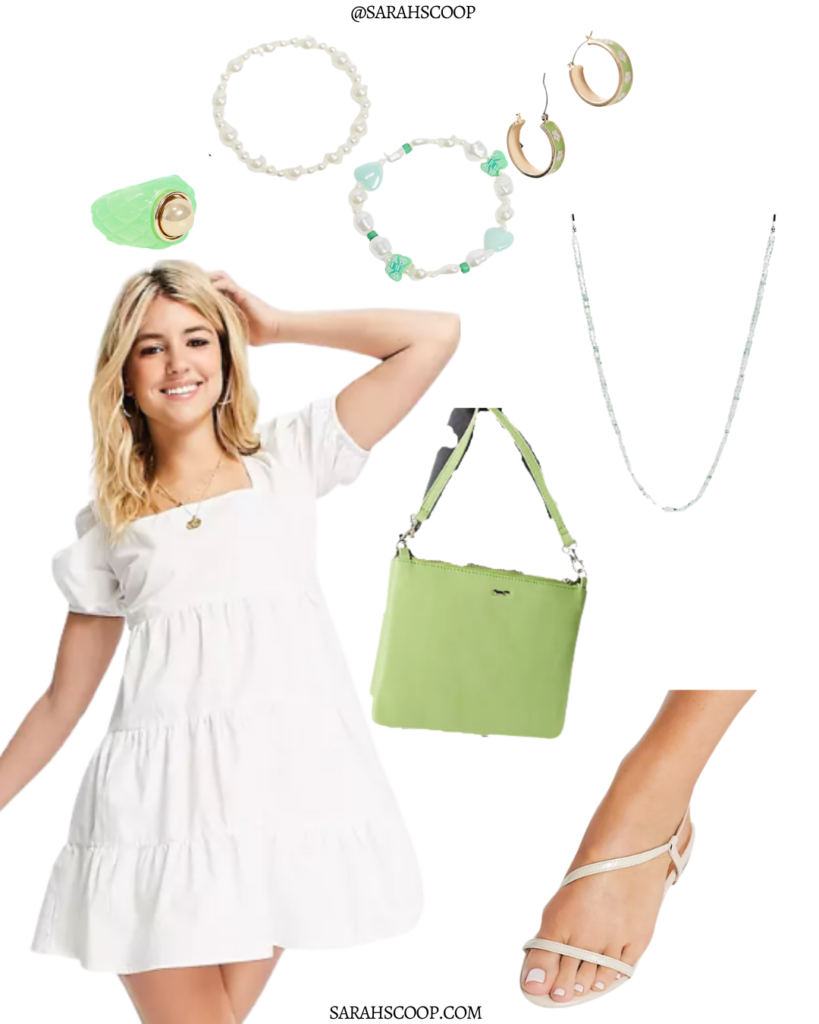 style a white dress for summer puff sleeve white dress