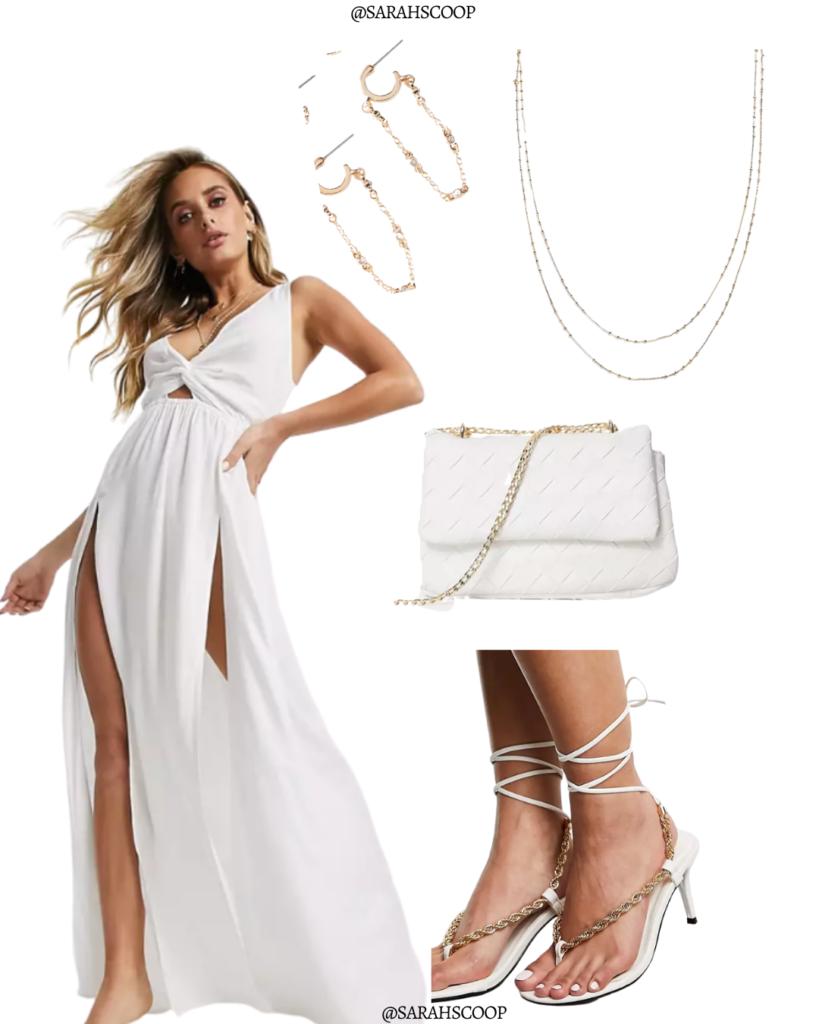 stunning white maxi dress