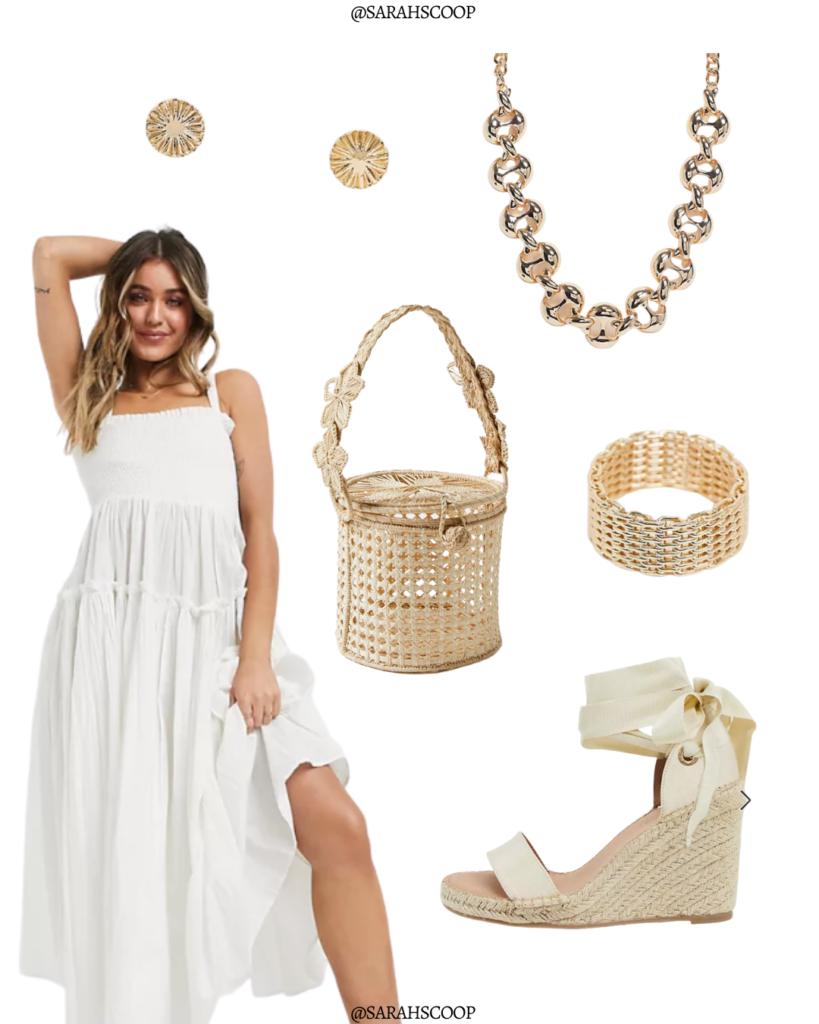 white dress for beach