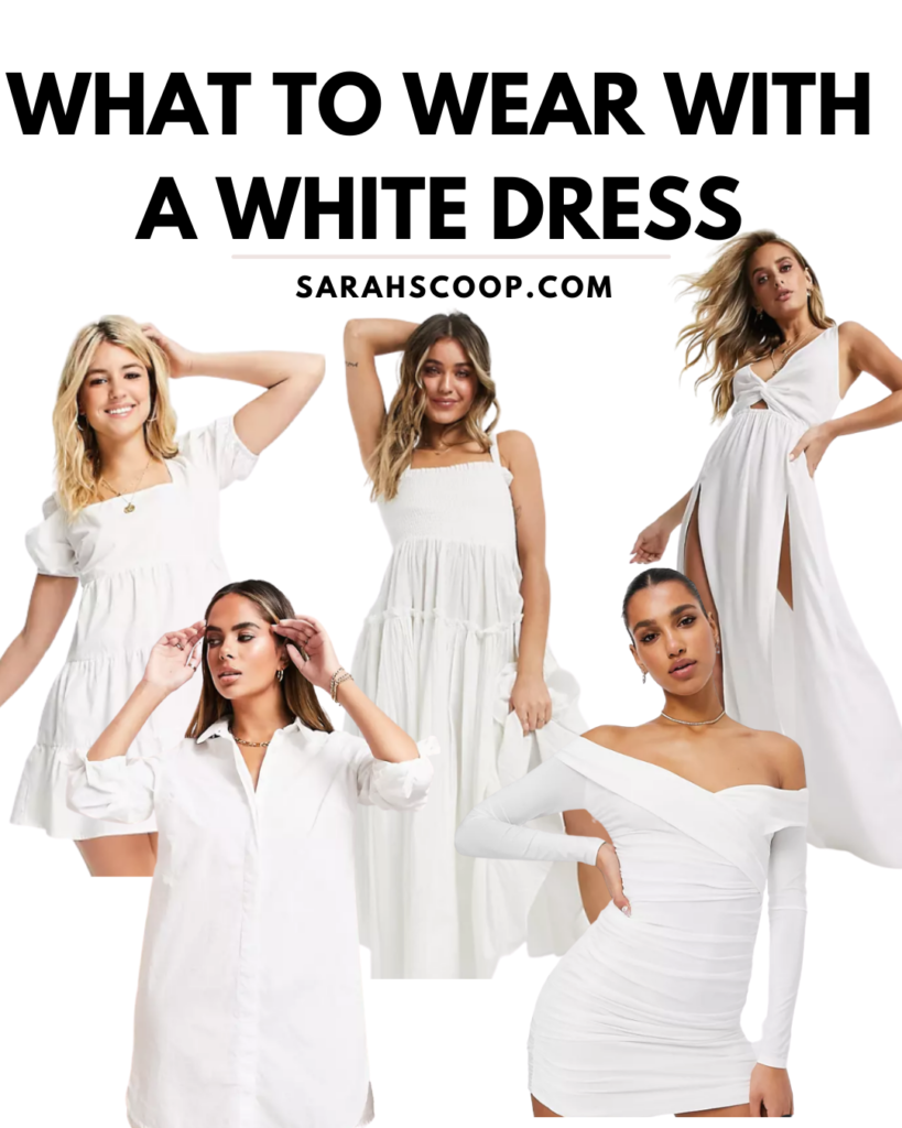 what to wear with a white dress pinterest