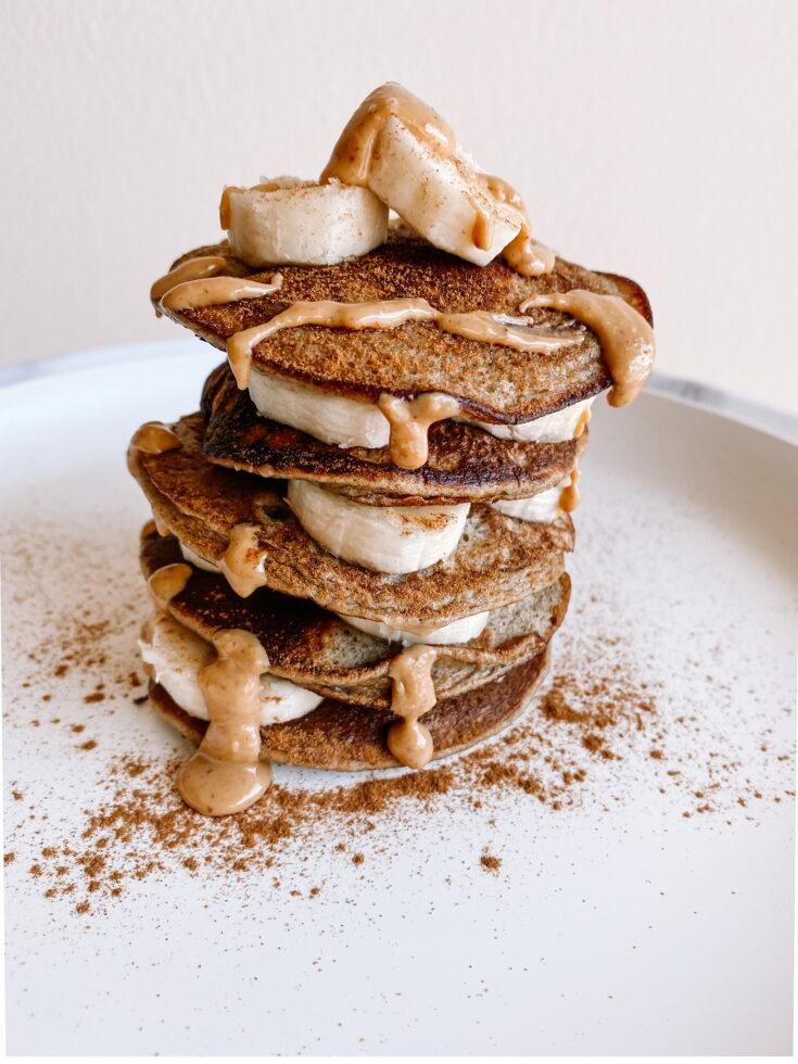 Banana pancake stack