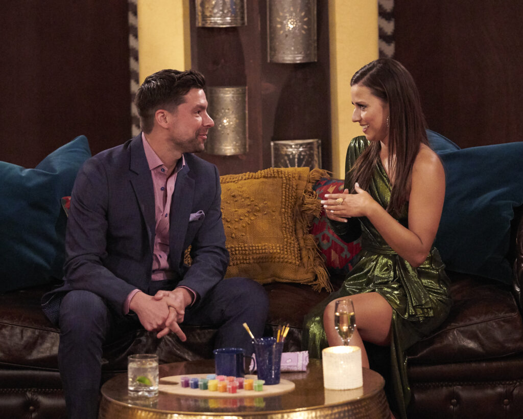 the bachelorette michael allio and katie thurston having one on one time