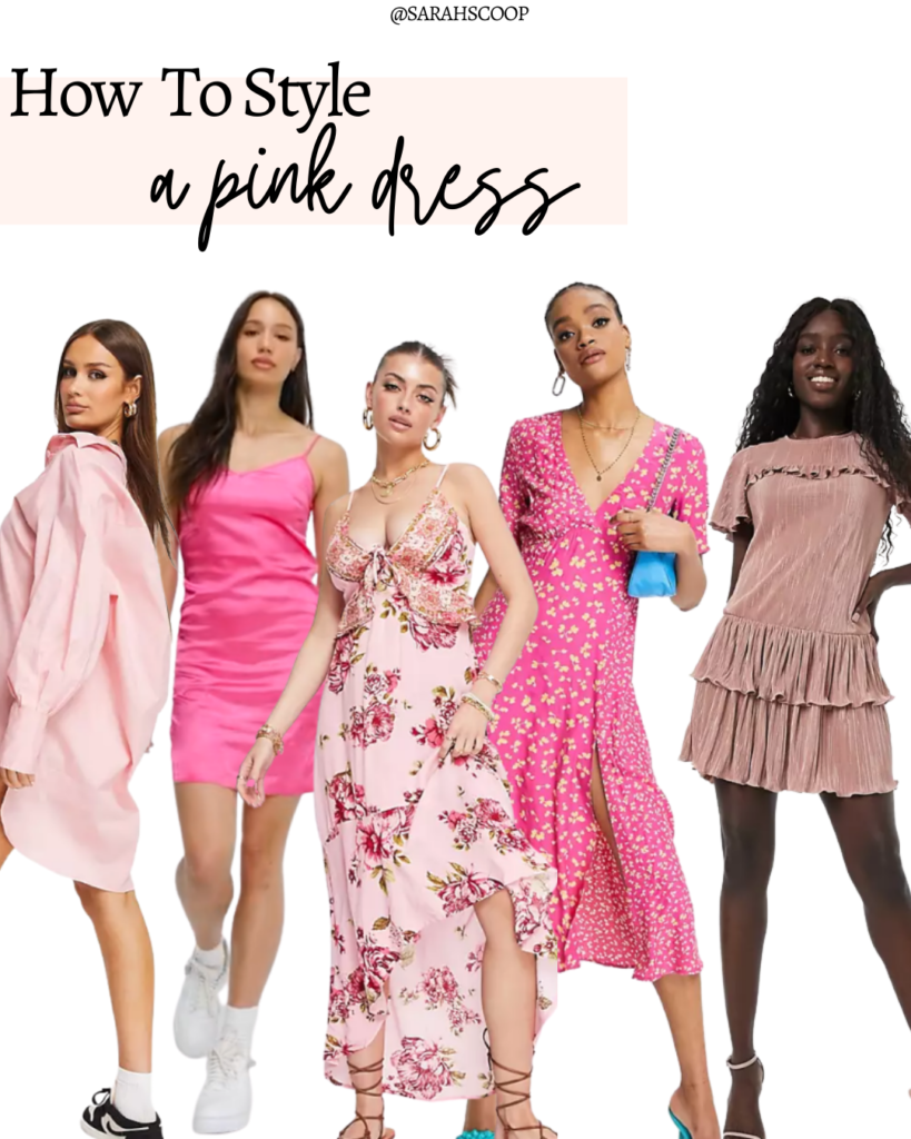 how to style a pink dress for summer