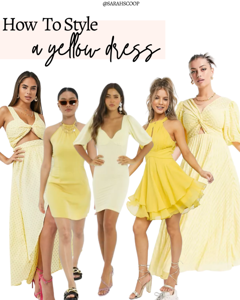 what to wear with yellow dress
