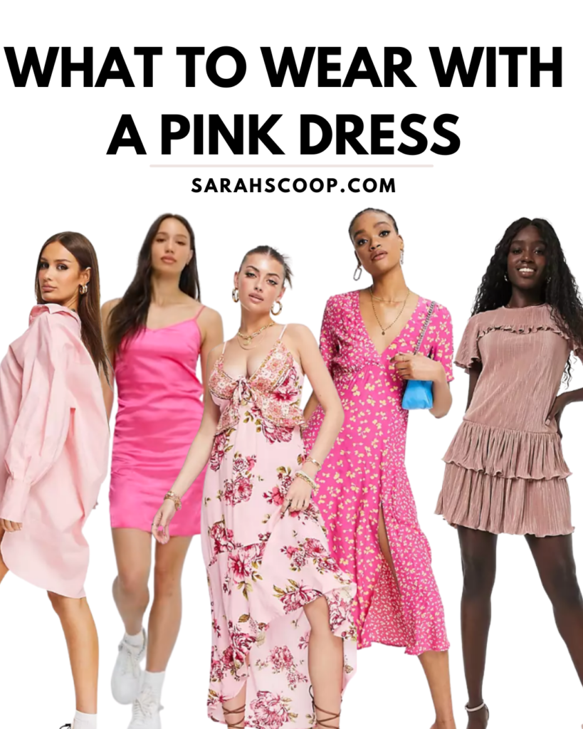 how to style a pink dress pinterest