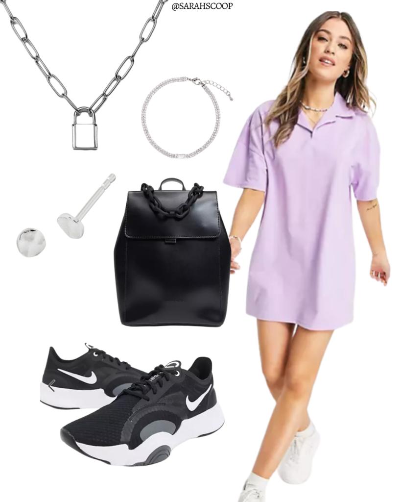 polo neck shirt dress