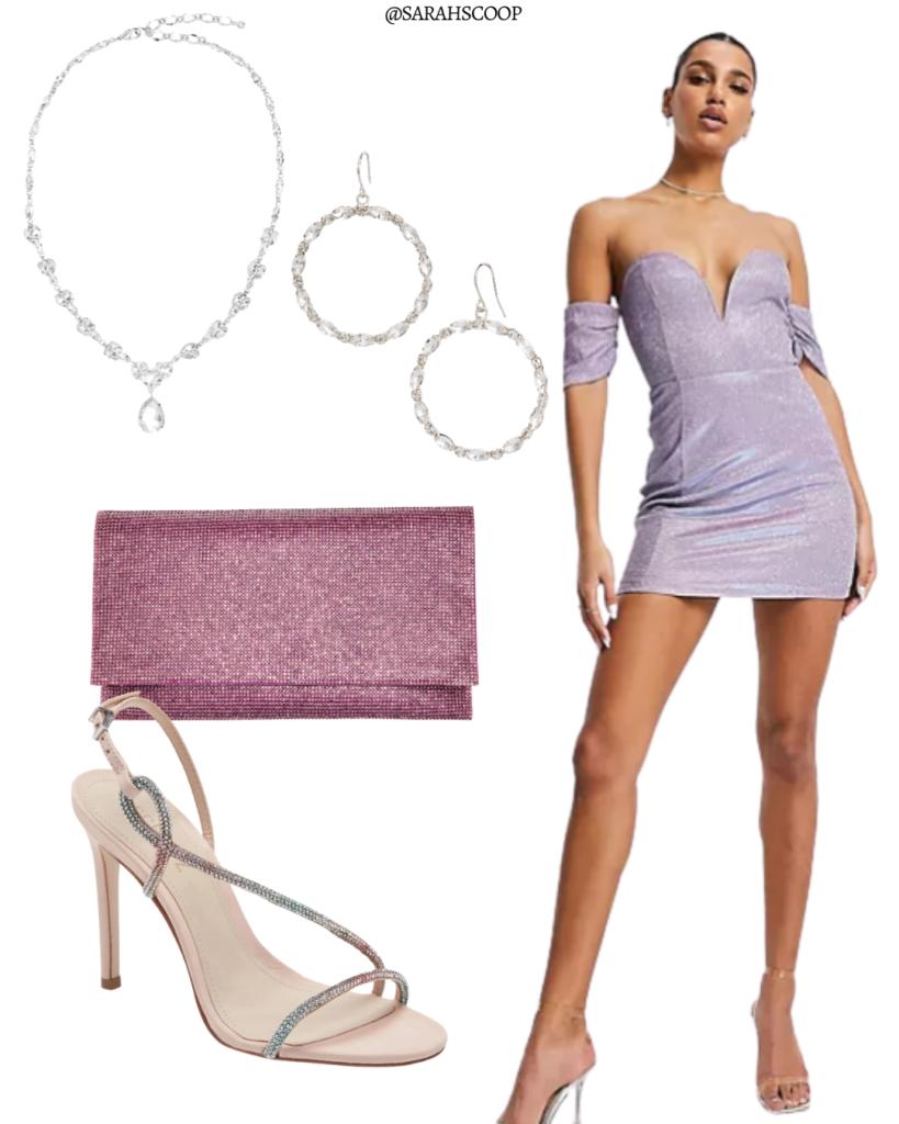 glittery mini dress