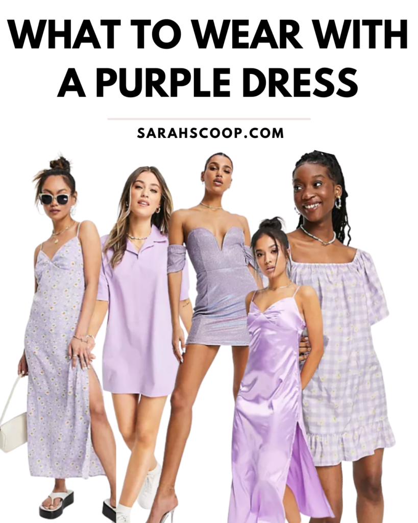 how to style purple dress pinterest