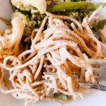 3 ingredient vegan hummus pasta recipe