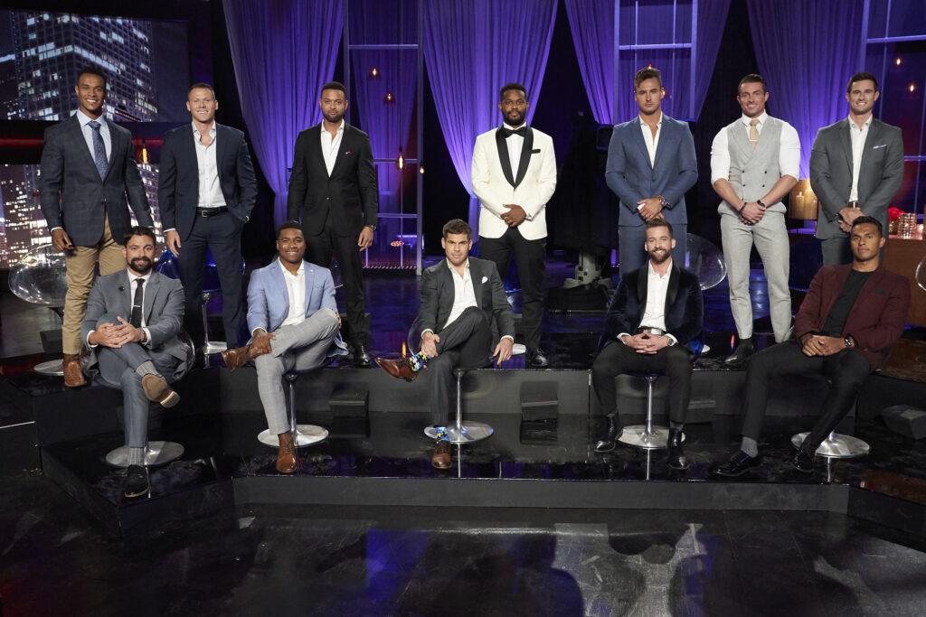 MICHAEL, ANDREW S., HUNTER, CONNOR B., AARON, QUARTNEY, CODY, KARL, TRE, BRENDAN, JAMES, KYLE; The Bachelorette The Men Tell All