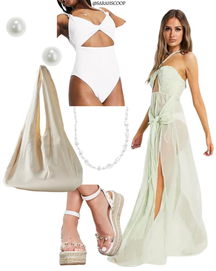 green maxi beach dress