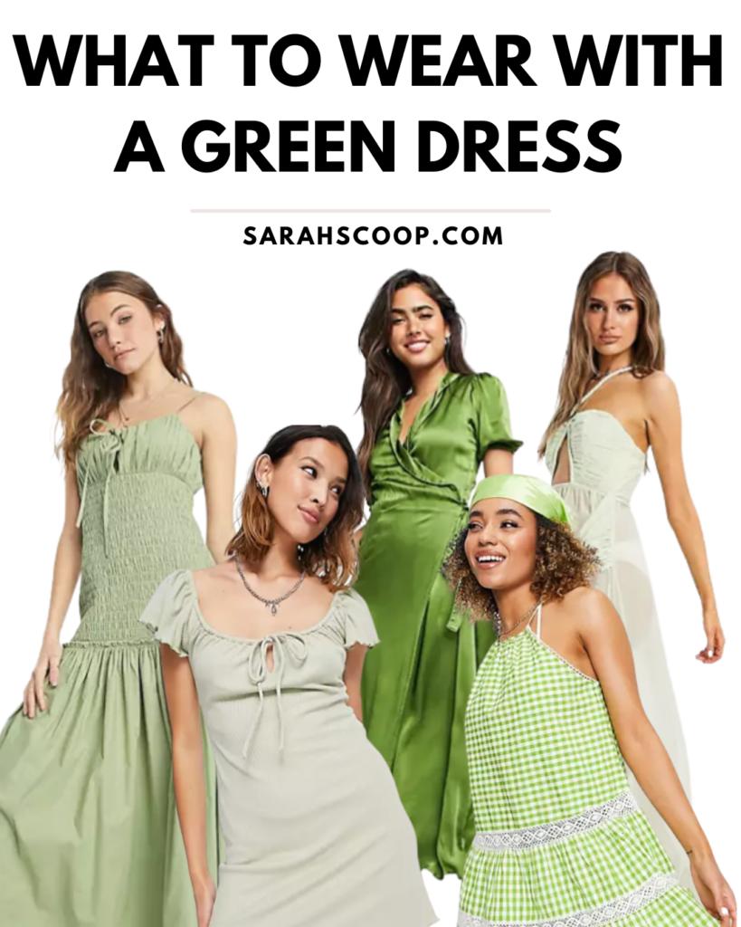 green dress pinterest