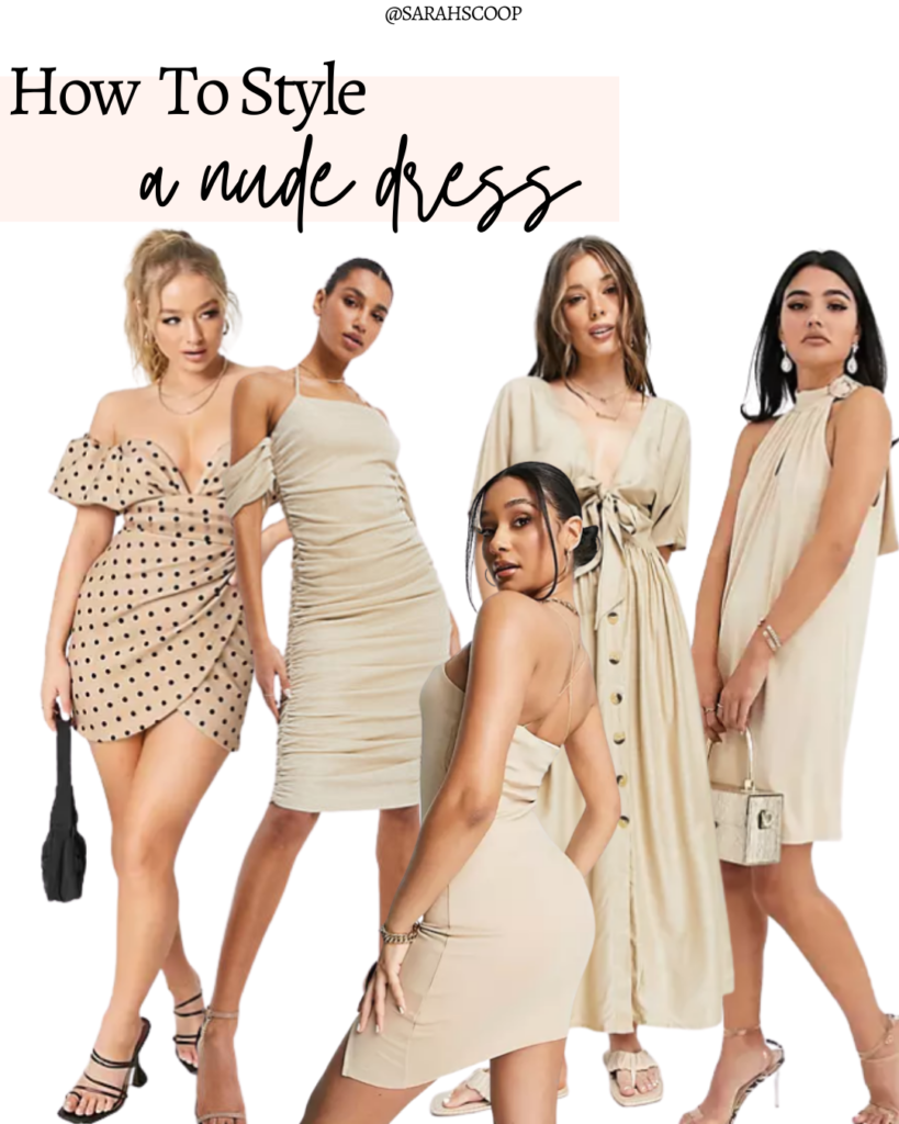 how to style a nude dress