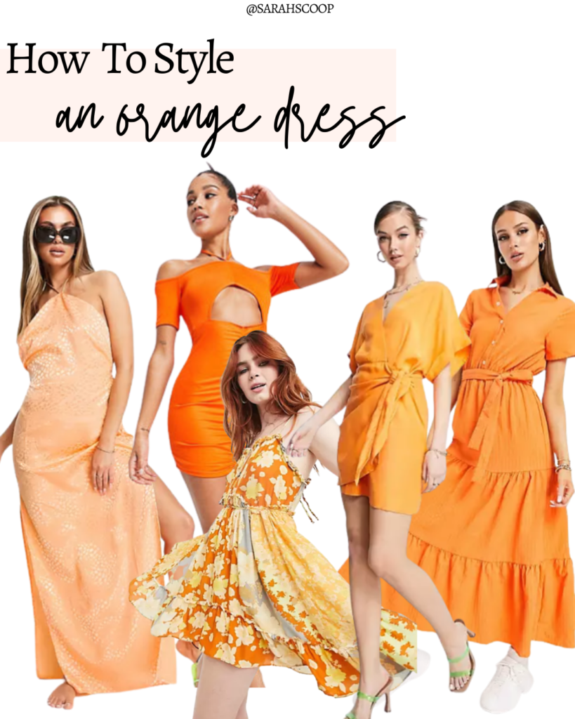 best ways to style an orange dress for summer