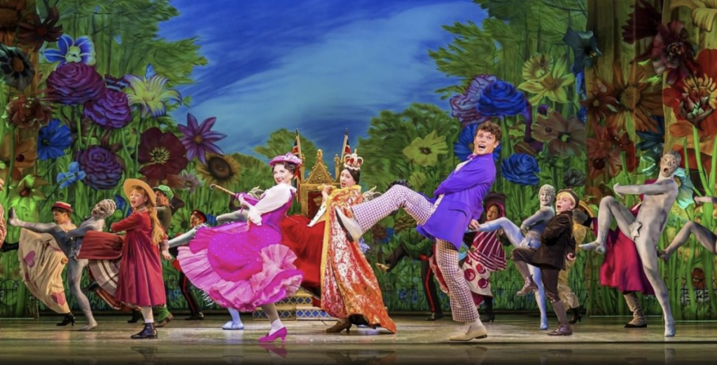 Scene from the Broadway musical;