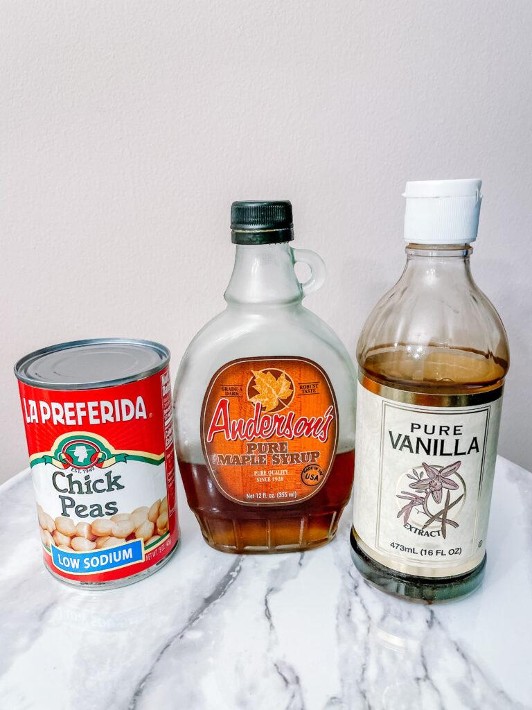 3 ingredient vegan whipped cream recipe ingredients