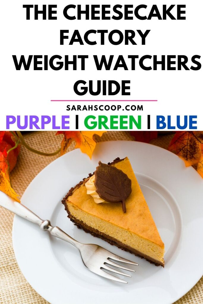 cheesecake factory weight watchers points